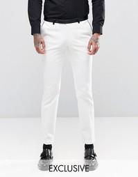 Супероблегающие брюки стретч с контрастным кантом Noose & Monkey