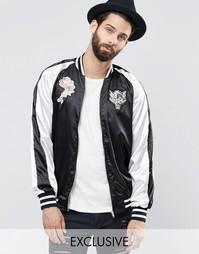 Куртка-пилот Reclaimed Vintage Souvenir - Черный