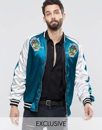 Куртка-пилот Reclaimed Vintage Souvenir - Синий