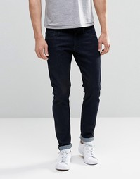 Суперзауженные темные потертые джинсы G-Star 3301 - Dark rinsed