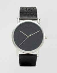 Черные часы с ацтекским узором ASOS - Черный