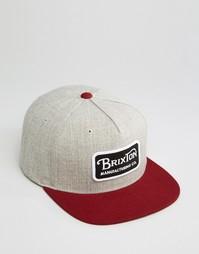 Бейсболка Brixton Grade - Серый