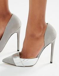 Туфли-лодочки из разных материалов Paper Dolls - Серый