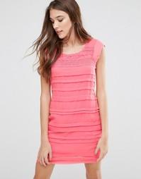Платье со вставками Lavand - Розовый