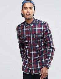 Рубашка в клетку с двумя карманами Jack & Jones - Красный
