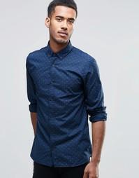 Рубашка с длинными рукавами и принтом птицы Jack & Jones - Темно-синий