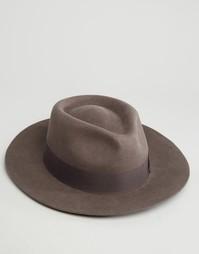 Фетровая шляпа Brixton Swanson - Серый