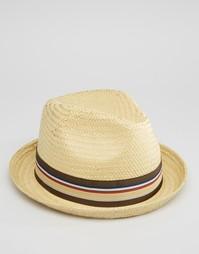 Соломенная шляпа Brixton Castor - Бежевый