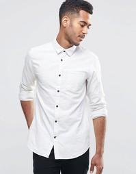 Рубашка с контрастными пуговицами Jack & Jones - Белый