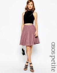 Многослойная мини‑юбка с отделкой из тюля ASOS PETITE - Пыльно-розовый