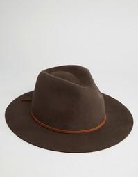 Мягкая фетровая шляпа Brixton Wesley - Коричневый