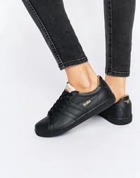 Кожаные кроссовки Gola Equipe - Черный