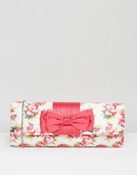 Клатч с цветочным принтом Lotus - Розовый с цветочным принтом