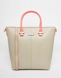 Лакированная сумка с эффектом змеиной кожи Pauls Boutique
