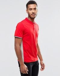 Футболка-поло с контрастным воротником Le Breve Alfie - Красный