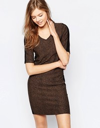 Платье-футболка с рукавами 3/4 b.Young - Hazel