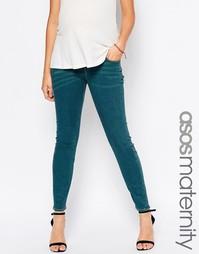 Облегающие джинсы для беременных ASOS Maternity Ridley - Синий