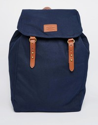Темно-синий холщовый рюкзак ASOS - Темно-синий