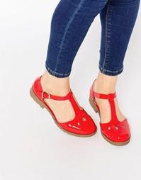 Туфли на плоской подошве ASOS MAISON - Hot tomato patent