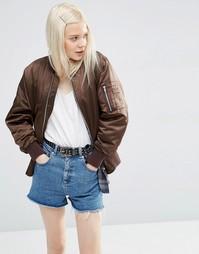 Куртка-пилот ASOS Ultimate - Шоколадный