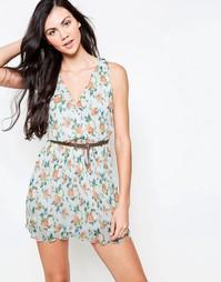 Платье с запахом спереди и поясом Jasmine - Кремовый