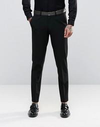 Облегающие брюки с контрастной отделкой ASOS - Черный
