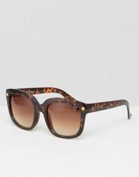 Солнцезащитные очки в квадратной черепаховой оправе Ruby Rocks
