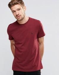 Бордовая футболка с логотипом-фазаном Jack Wills - Сливовый