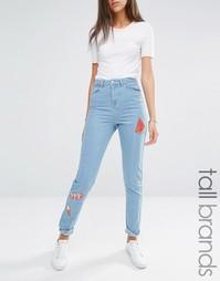 Джинсы в винтажном стиле с вышивкой Noisy May Tall - Светлый
