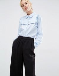 Рубашка с рюшами Gestuz - Голубой