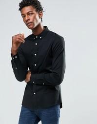 Зауженная твидовая рубашка с контрастными пуговицами и длинными рукава Asos