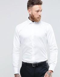 Стретчевая рубашка слим Ted Baker - Белый