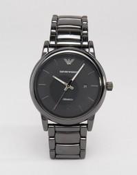 Черные наручные часы из нержавеющей стали Emporio Armani AR1508