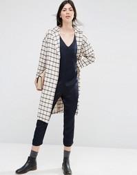 Легкое клетчатое пальто ASOS - Мульти