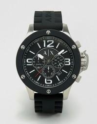 Часы с хронографом и силиконовым ремешком Armani Exchange AX1522