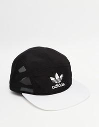 5-панельная кепка Adidas Originals Bleached Out - Черный