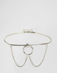 Ожерелье-чокер с цепочкой Missguided - Серебряный