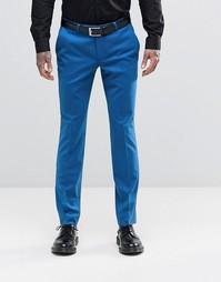 Супероблегающие стретчевые брюки Noose & Monkey - Цветочно-лазурный