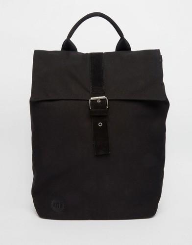 Черный холщовый рюкзак-роллтоп Mi-Pac - Черный