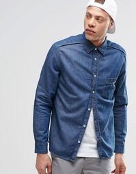 Джинсовая рубашка Cheap Monday - Синий скаутский