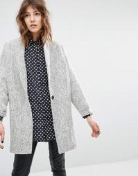 Твидовое пальто в елочку Suncoo Eloi - Мульти