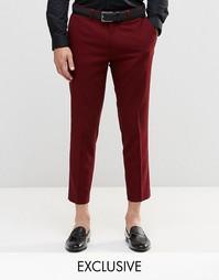 Укороченные брюки скинни Only & Sons - Burgundy