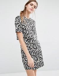 Двухслойное цельнокройное платье Suncoo Clara - Ocre