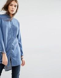 Легкая джинсовая рубашка Hilfiger Denim - Индиго