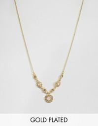 Позолоченное ожерелье с цветами Pilgrim