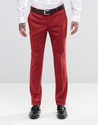 Супероблегающие стретчевые брюки Noose & Monkey - Малиновый