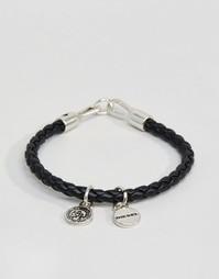 Черный браслет из искусственной кожи Diesel Asanty - Черный