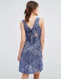 Платье с принтом и завязкой сзади Brave Soul - Indigo - индиго