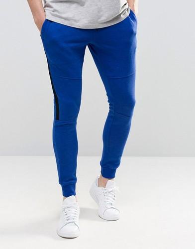 Зауженные контрастные брюки с контрастной деталью Jack & Jones - Синий