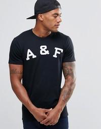 Облегающая черная футболка слим Abercrombie & Fitch - Черный